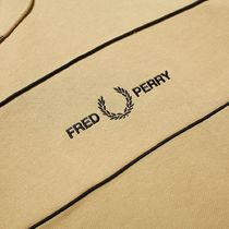 FRED PERRY Hoodies Street Style Long Sleeves Plain Cotton Logo Hoodies 4