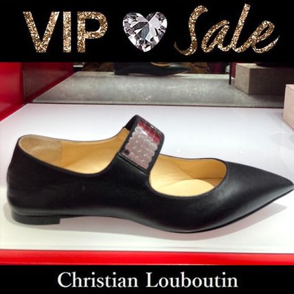 Christian Louboutin Platform Plain Toe Lace-up Casual Style Street Style Plain
