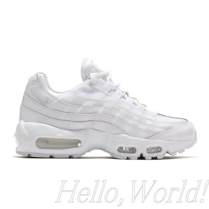 Nike AIR MAX 95 Unisex Street Style Plain Leather Logo Low-Top Sneakers
