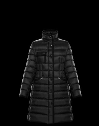 MONCLER HERMINE Plain Long Down Jackets
