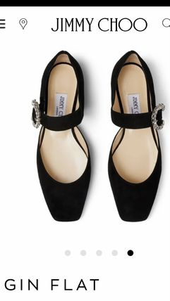 Jimmy Choo Plain Toe Casual Style Suede Plain Party Style Elegant Style