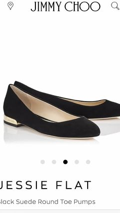 Jimmy Choo Round Toe Casual Style Suede Plain Party Style Office Style