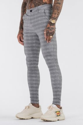 Other Plaid Patterns Street Style Pants