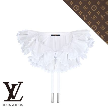 Louis Vuitton Casual Style Plain Cotton Party Style Elegant Style Collars