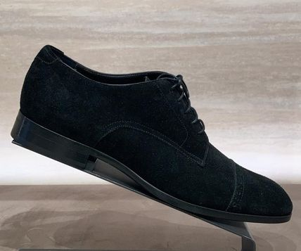 Jimmy Choo Straight Tip Suede Plain Leather Oxfords