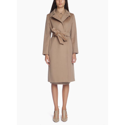 Max Mara Studio Wool Plain Logo Coats