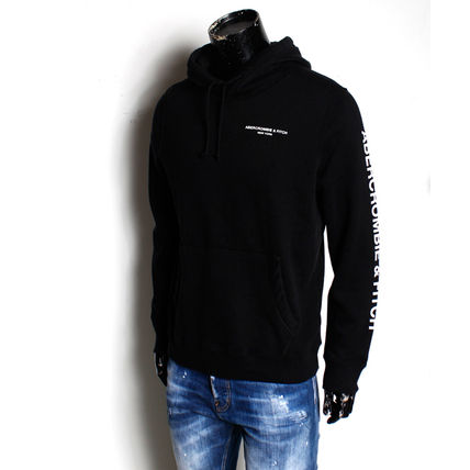 Abercrombie & Fitch Hoodies Long Sleeves Cotton Logo Surf Style Hoodies