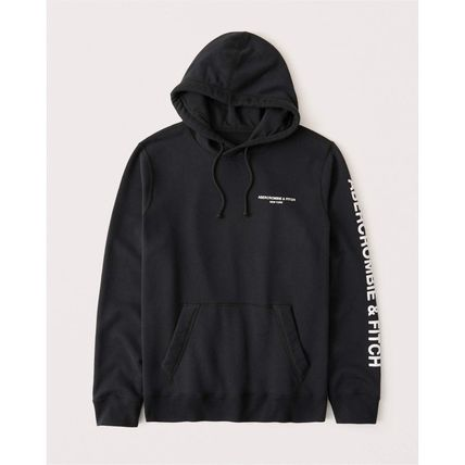 Abercrombie & Fitch Hoodies Long Sleeves Cotton Logo Surf Style Hoodies 4