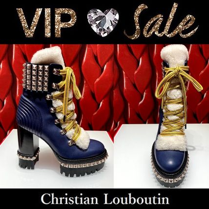 Christian Louboutin Casual Style Blended Fabrics Leather Party Style