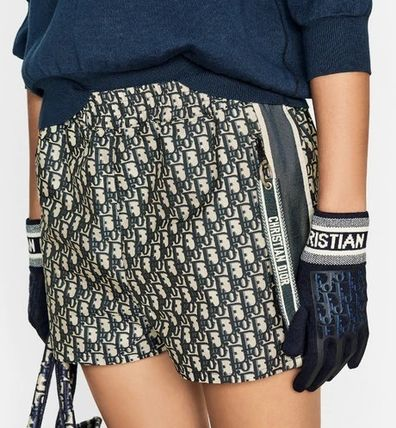 Christian Dior Short Casual Style Street Style Party Style Logo Pants