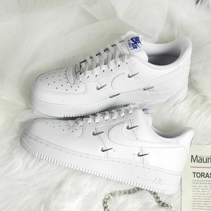 Nike AIR FORCE 1 Casual Style Street Style Plain Logo Low-Top Sneakers