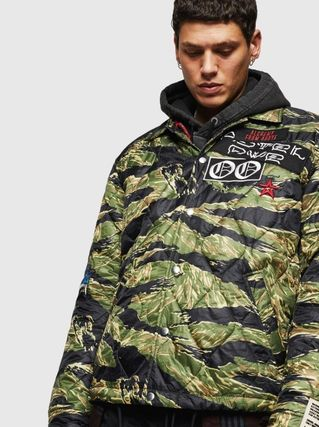 DIESEL Camouflage Street Style Other Animal Patterns Coach Jackets