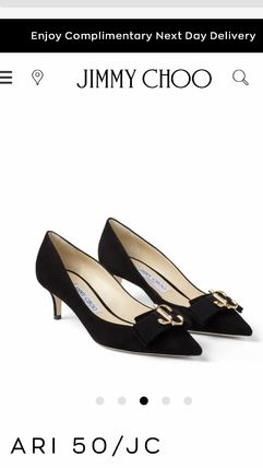 Jimmy Choo Casual Style Suede Plain Pin Heels Party Style Halloween