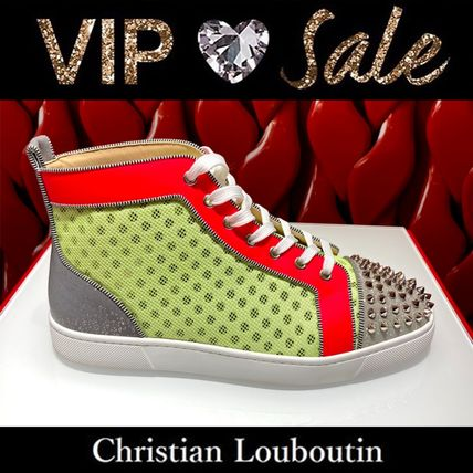 Christian Louboutin Blended Fabrics Street Style Logo Sneakers