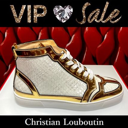 Christian Louboutin LOUIS Blended Fabrics Street Style Logo Sneakers