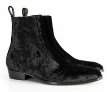 ORO LOS ANGELES Suede Plain Leather Handmade Logo Boots