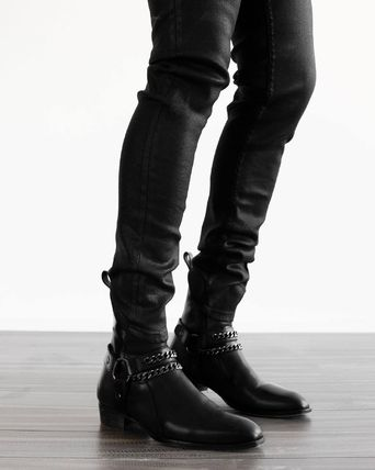 ORO LOS ANGELES More Boots Chain Plain Leather Handmade Boots 3