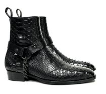 ORO LOS ANGELES Chain Plain Leather Handmade Boots