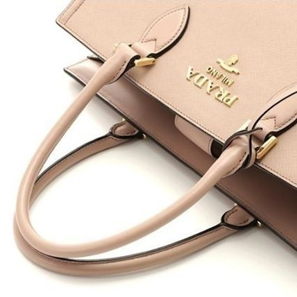 PRADA Casual Style 2WAY Plain Leather Party Style Office Style