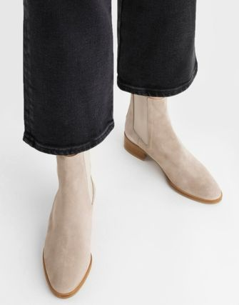 Logo Casual Style Plain Elegant Style Boots Boots