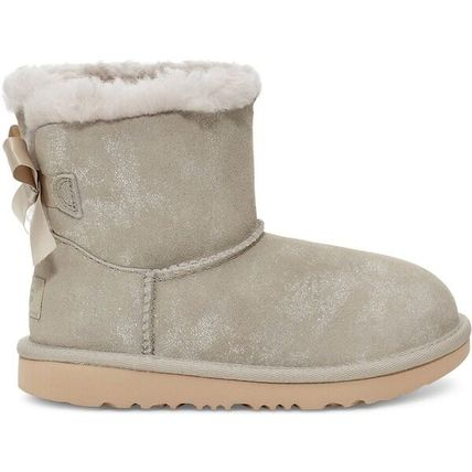 UGG Australia MINI BAILEY BOW Blended Fabrics Street Style Kids Girl Boots