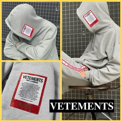 VETEMENTS Hoodies Unisex Street Style Long Sleeves Cotton Hoodies