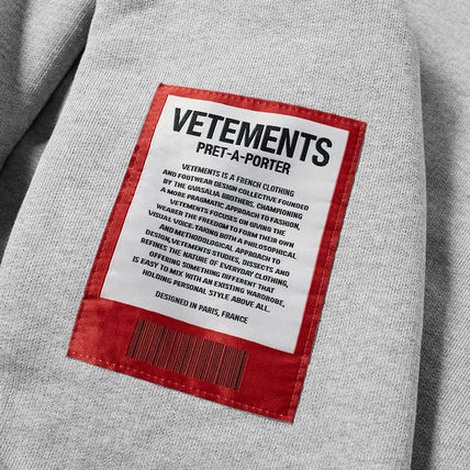 VETEMENTS Hoodies Unisex Street Style Long Sleeves Cotton Hoodies 3