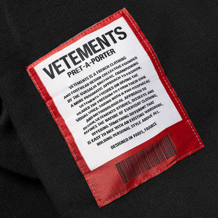 VETEMENTS Hoodies Unisex Street Style Long Sleeves Cotton Hoodies 6