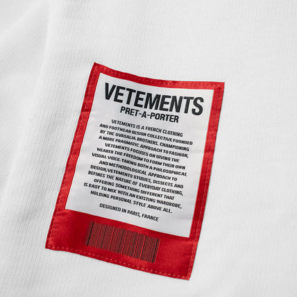 VETEMENTS Hoodies Unisex Street Style Long Sleeves Cotton Hoodies 9