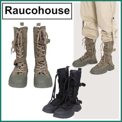 Raucohouse Casual Style Street Style Logo Boots Boots