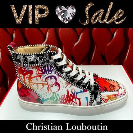 Christian Louboutin RANTUS Blended Fabrics Street Style Logo Sneakers
