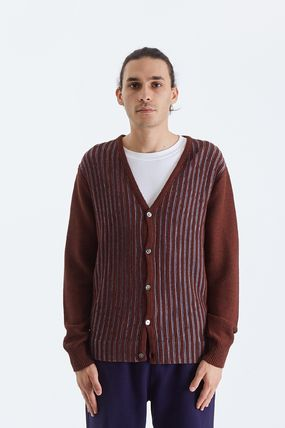 STUSSY Cardigans Stripes Unisex Wool Street Style Cotton Skater Style 2