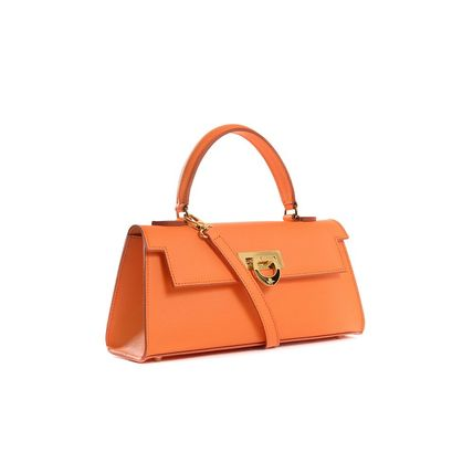 Casual Style Calfskin 2WAY Plain Elegant Style Totes
