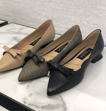 Charles&Keith Casual Style Faux Fur Plain Office Style Elegant Style Mules
