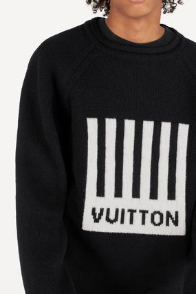 Louis Vuitton Crew Neck Wool Long Sleeves Luxury Sweaters