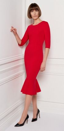 Long Sleeves Plain Long Party Style Elegant Style Dresses