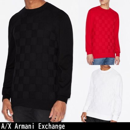 A/X Armani Exchange Sweaters Long Sleeves Plain Sweaters
