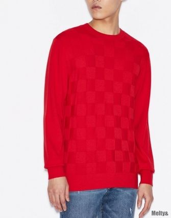 A/X Armani Exchange Sweaters Long Sleeves Plain Sweaters 11