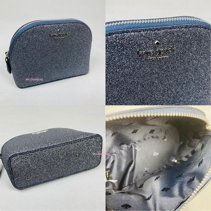 kate spade new york Plain Glitter Pouches & Cosmetic Bags