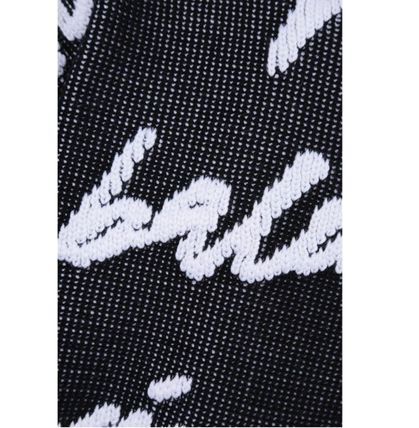 BALENCIAGA Sweaters Crewneck In Black And White 3D Scribble Cotton Knit 3