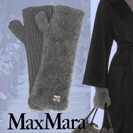 MaxMara Wool Silk Plain Gloves Gloves