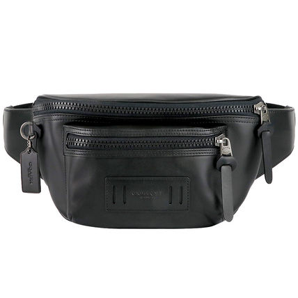 Plain Leather Crossbody Bag Belt Bags