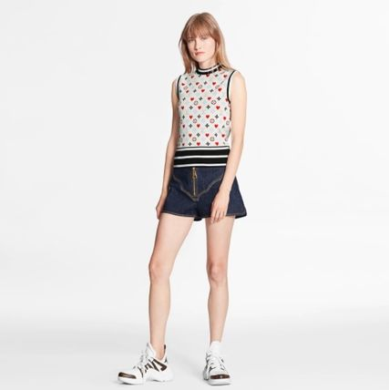 Louis Vuitton Game On Contrast Stripe Sleeveless Pullover