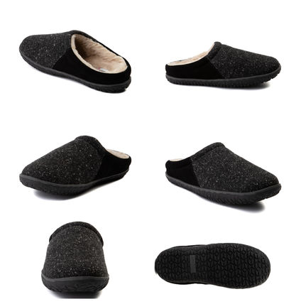 Plain Toe Moccasin Rubber Sole Casual Style Suede Bi-color