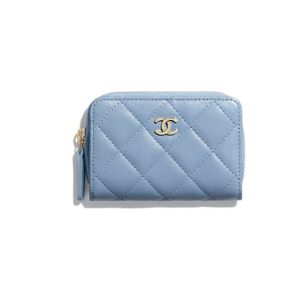 CHANEL Plain Long Wallet  Logo Long Wallets