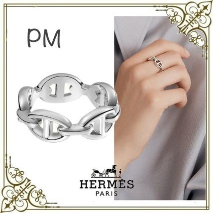 HERMES Chaine dAncre Unisex Silver Rings