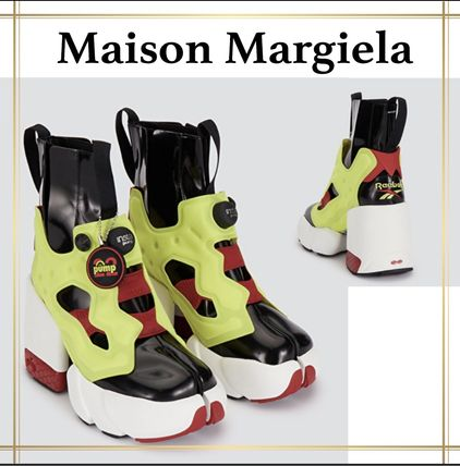 Maison Margiela Tabi Platform Casual Style Collaboration Plain Logo