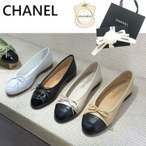 CHANEL Leather Ballet Shoes