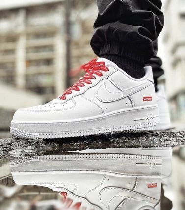 Supreme Unisex Collaboration Street Style Sneakers