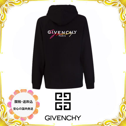 GIVENCHY Hoodies Pullovers Unisex Street Style Long Sleeves Plain Luxury